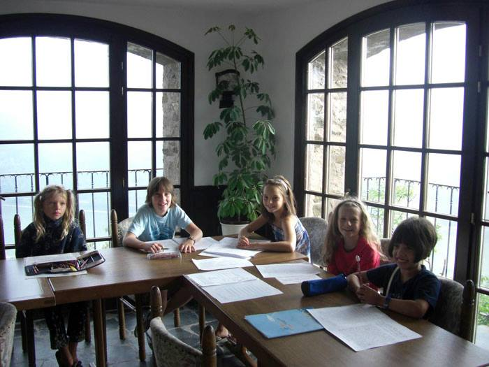 ESL Schoolchildren learning English